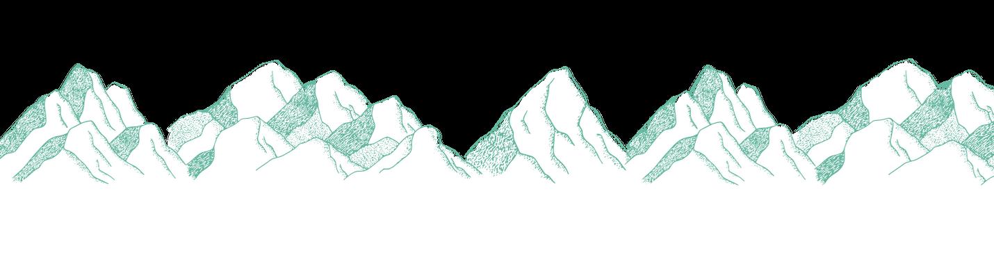 Des montagnes à fond vert pour représenter Grenoble