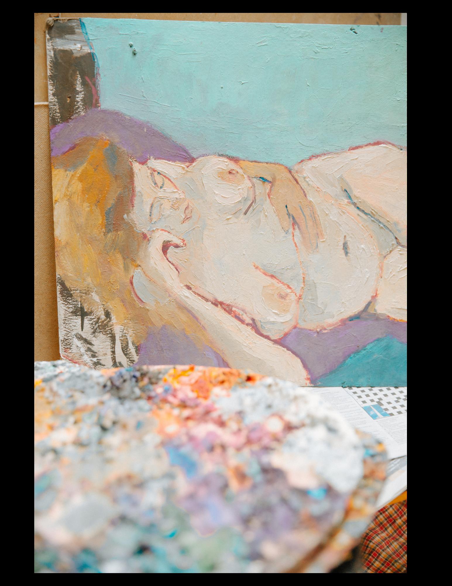 peinture d'une femme nue en illustration au métier de sage femme