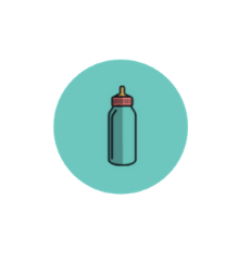 icône symbolisant un biberon pour exprimer la naissance