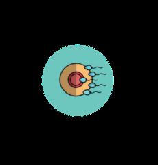 icône d'un embryon et de spermatozoïdes symbolisant la fécondation