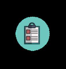 icône symbolisant une prise de notes médicales