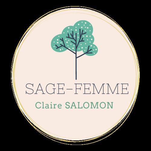 Logo de la sage femme Claire SALOMON, représentant un arbre, symbole de la vie et de la naissance