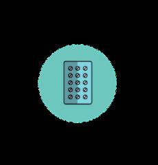 icône de la pilule contraceptive en gynécologie