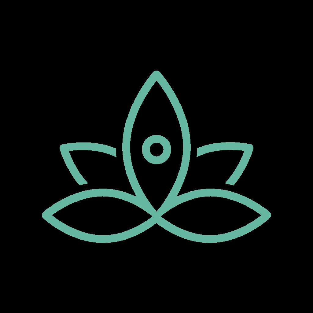 icône d'une fleur de lotus